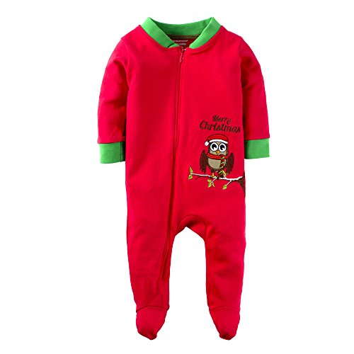 BIG ELEPHANT Baby Boys'1 Piece Cute Animal Zipper