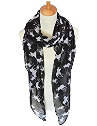 GERINLY Cute Moose Print Oblong Scarves For Women