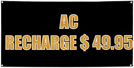 f68ad2d8318a4e Amazon.com   Vinyl Banner Sign Ac Recharge   49.95 Automotive Outdoor  Marketing Advertising Black - 44inx110in (Multiple Sizes Available)