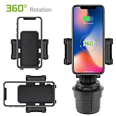 Cellet Car Cup Holder Phone Mount Cradle Compatible for iPhone 11 Pro Max XR XS Max X 8 Plus Samsung Note 10 9 8 Galaxy S20 Ultra S10+ S9 S8 Moto e6 z4 g Power Play Pixel 4 XL LG