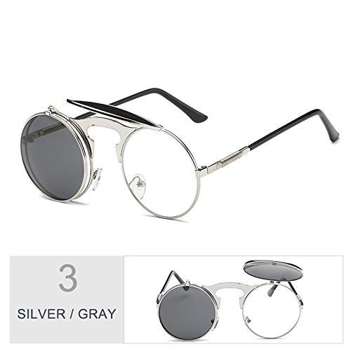 Para Sol Silver Plegables Mesas Hombre Gafas Gris Unisex Conducción Plata De TIANLIANG04 Gray Gafas Mujer q0OETAYzn