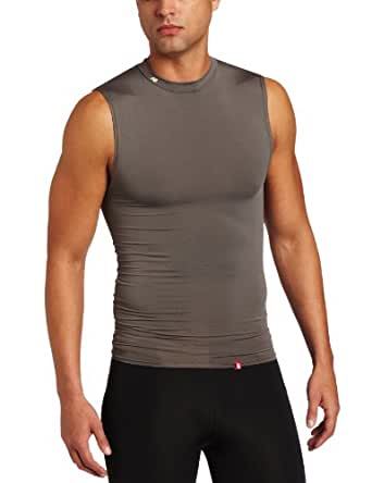 New Balance Men's Compression Crew Neck Muscle Undershirt, Grey, Small
