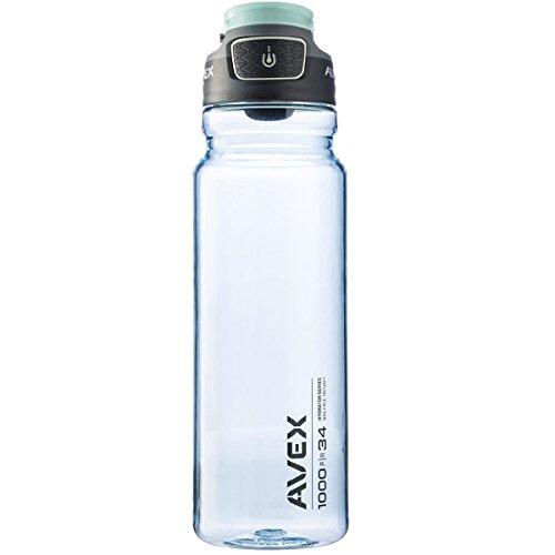 Avex FreeFlow Autoseal Water Bottle, Ice, 1000ml/34 oz