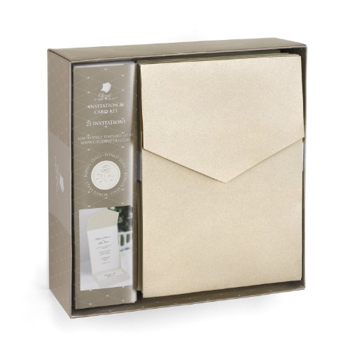 Hortense B. Hewitt Wedding Accessories Champagne Shimmer Invitation Kit ()