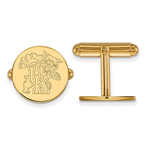 Roy Rose Jewelry 14K Yellow Gold LogoArt University of Kentucky Cuff Links