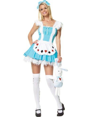 Buy light blue alice in wonderland dress - 4