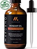 Margano Organic Cold-Pressed Rosehip Seed Oil | 100% Natural, Pure, Unrefined Rosehip Oil For Face, Skin, Hair & Nails | Anti-Aging, Wrinkles, Acne, Scar & Discoloration Facial Oils Treatment | 4oz