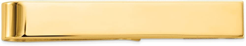 Solid 14k Yellow Gold Tie Bar (8mm x 50mm)
