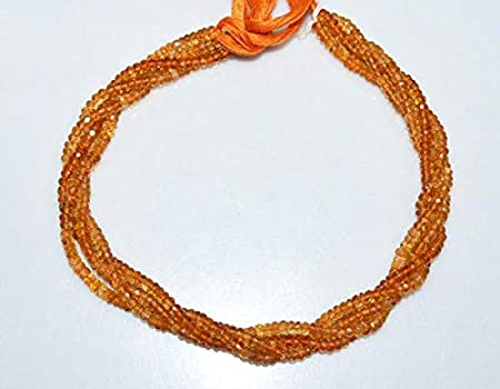 13 Inches Beads Strand Citrine Beads Rondelle Shape Beads Natural Faceted Citrine, Natural Shaded Citrine Beads Faceted Rondelle Beads