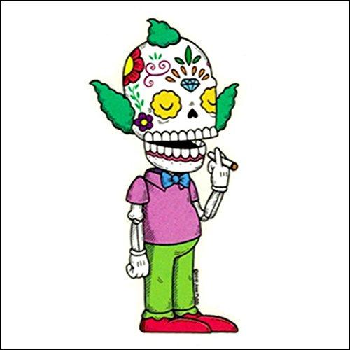 Weather Proof Die Cut Vinyl Day of The Dead Sticker Mis Nopales Krusty The Clown