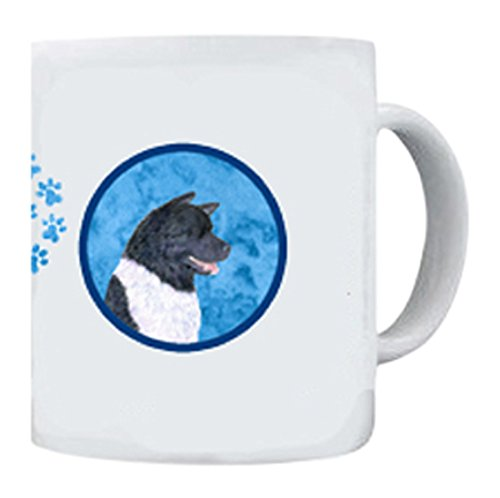 Caroline's Treasures SS4797-BU-CM15 Akita Dishwasher Safe Microwavable Ceramic Coffee Mug, 15 oz, Multicolor (Akita Coffee Mug)