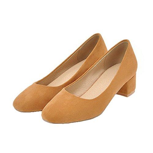 GMMDB006827 Tirare Ballet Flats Basso Giallo Tacco Solid Donna AgooLar Plastica qRwf8t1
