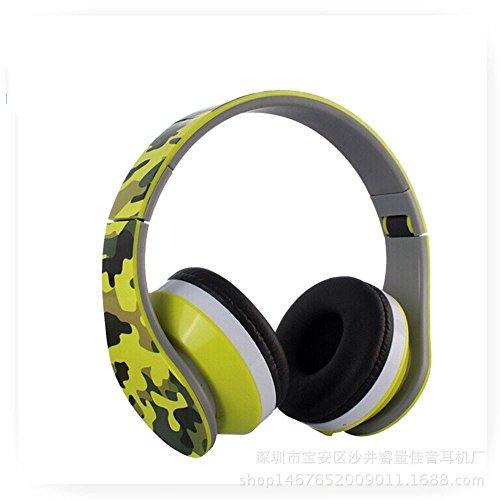 XHKCYOEJ Headset Stereo Headset/Games/Headphones/Headwear/Mobile/Folding/Headphones,Yellow: Amazon.co.uk: Electronics