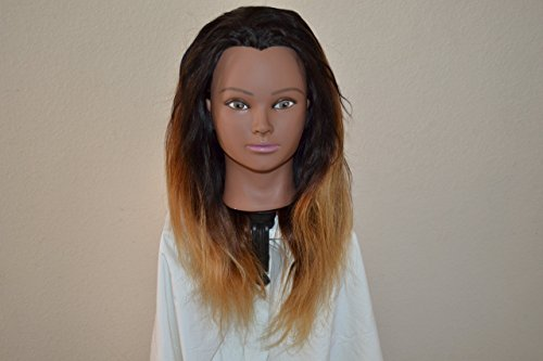 Handmade Wig - Brazilian Halfwig Straight Ombre Blonde 16 inch 8A Color: T1B/4/27 16-16-16 by Chezlilika