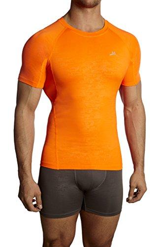 Mission Men's VaporActive Compression Shirt, Orange