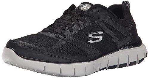 Skechers Sport Hombres Flex Power Alley Sneaker Negro / Gris