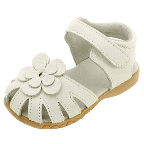 Tantisy ♣↭♣ Girl Leather Princess Flat Shoes/Closed Toe Casual Outdoor Shoes/Summer Sandals (Toddler/Little Kid/Big Kid) Beige