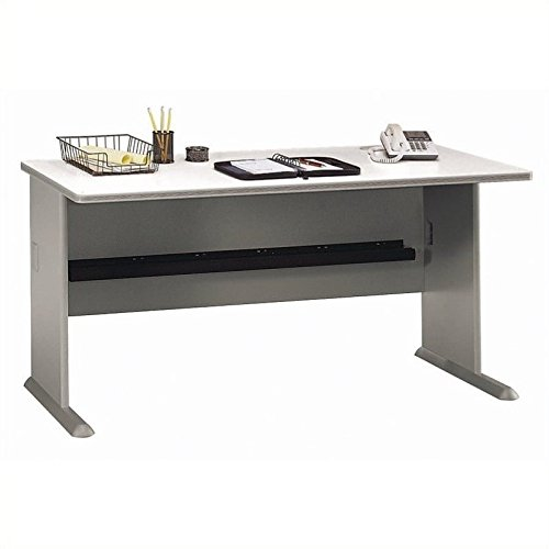 Bush Business Furniture Series A 60W Desk in Pewter and White ()