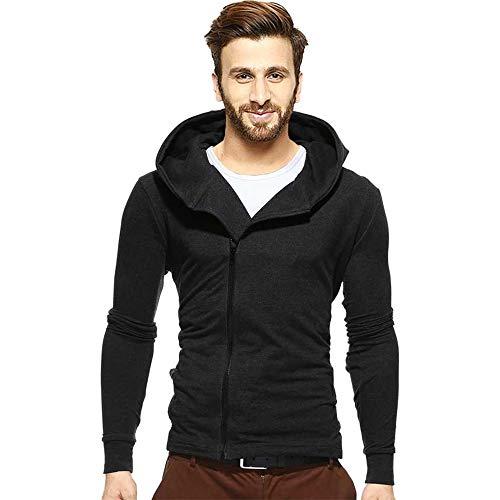 BLIVE Full Sleeve Solid Men Sweatshirt Black