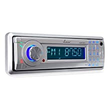 Lanzar AQMP70BTS AM/FM Marine In-Dash Fold Down Detachable Face Radio with MP3/USB/SD/AUX Input and Bluetooth Wireless Technology