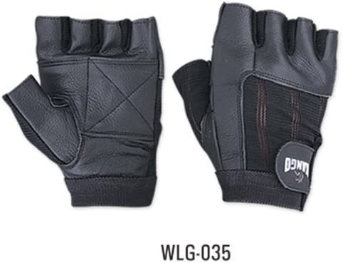 WEIGHT LIFTING PADDED LEATHER GLOVES FITNESS TRAINING BODY BUILDING GYM SPORTS /& WHEEL CHAIR USE SIZE W035