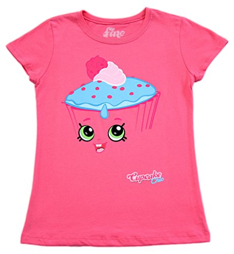 Price comparison product image Shopkins I Am Cupcake Chic Girls Hot Pink T-shirt (Youth Small)