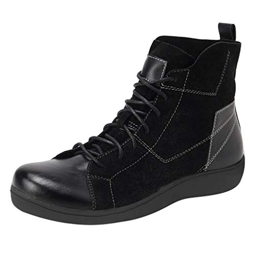 Women Ankle Boots with Arch Support Non-Slip Rubber Sole Comfy Boots Flat Heels Lace up Everyday Boots