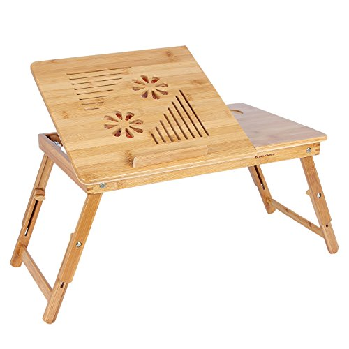 songmics bamboo laptop desk with usb fan breakfast serving. Black Bedroom Furniture Sets. Home Design Ideas