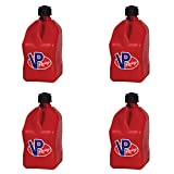 4 Pack VP 5 Gallon Square Red Racing Utility Jugs