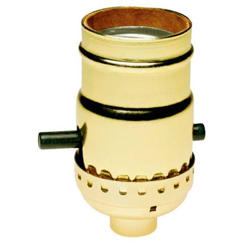 Light Push Through Sockets - Legrand-Pass & Seymour 6098PG Polished Gilt Push-Through Lamp Holder Light Socket