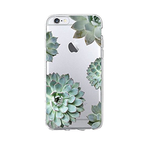 Desirca Phone Case Capa for iPhone 7 Cactus Cover Flower Rose Plant Leaves Silicone Shell Funda for iPhone 7 Plus 8 6 6S 5S Se 5 Lavender for iPhone 8 Plus
