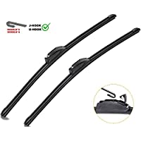 Silent and SUVs 20 + 20 Inch Crystal-Clear 2 Pack for Front Windshield CAT All Season Heavy Duty Windshield Wiper Blades Pickups Streak-Free Vans Ultra Strong // Extra Durable for Trucks