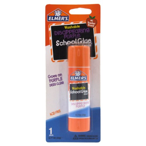Elmers Washable School Glue Stick 22g /.77 Oz (Pack of 6) by Elmer's