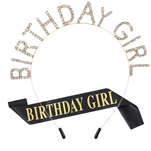 bday sash and crown