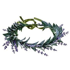 Floral Fall Artificial Baby Breath Flower Halo Wedding Crown Lilac Bridal Headpiece Greenery Crown HC-24 3