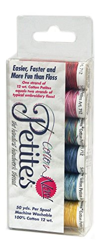 - Sulky Sampler 12wt Cotton Petites, Most Popular Blendables Assortment, 6-Pack