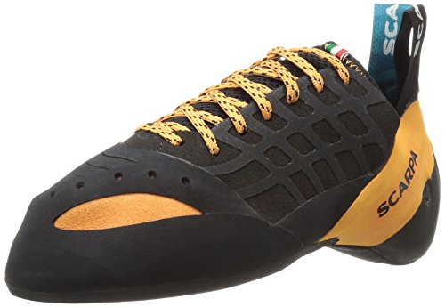SCARPA Instinct Climbing Shoe, Black/Orange, 41.5 EU/8.5 D US