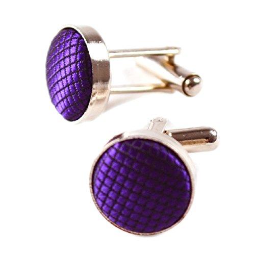 Man di Bowtie Purple Purple Handkerchief Alizeal Gemelli wf7qUf