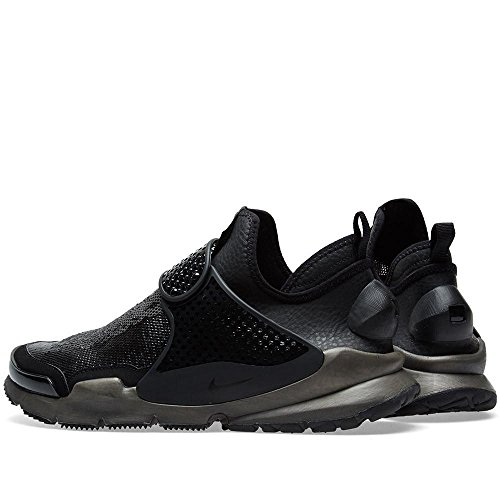 Nike Homme Pierre Île Chaussette Dart Mi Noir / Voile Tissu Noir / Voile