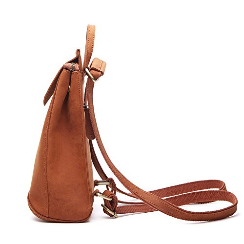 College Rucksack Casual and Vintage 2 Backpack Women Shopping 1 Handbags City Shoulder Leather Uni in DokinRich Daypack Ladies Genuine Rucksack q1gxqP6