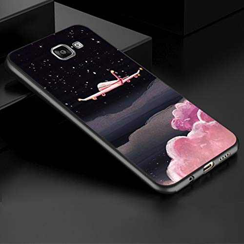 (LIXUANXUAN Phone case GerTong for Samsung Galaxy A8 Plus 2018 A3 A5 A7 2017 2016 S9 S8 Plus S7 S6 Edge Case TPU Silicon Cover Tropical Plants Flowers)