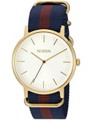Nixon Men's 'Porter' Quartz Nylon Watch, Multi Color (Model: A10592439-00)