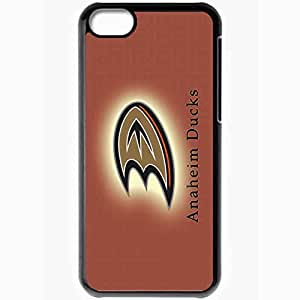 Personalized iPhone 5C Cell phone Case/Cover Skin Anaheim Ducks 516 Sports Black