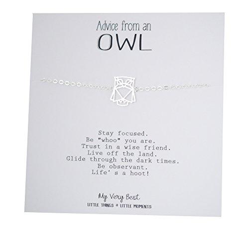 My Very Best Geometric Origami Owl Bracelet (silver plated brass)