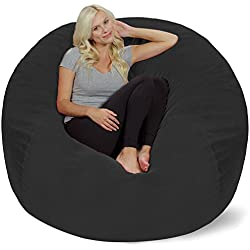 Chill Sack Bean Bag Chair: Giant Memory Foam Furniture Bags and Large Lounger - Big Sofa with Huge Water Resistant Soft Micro Suede Cover - Dark Grey Pebble, 5 feet