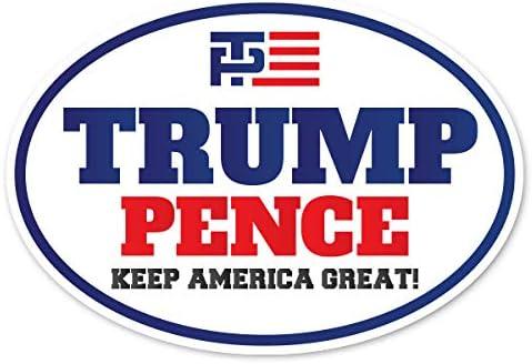 Donald Trump Mike Pence Make America Great Again White Bumper Sticker
