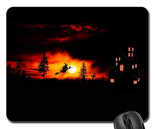 Mouse Pad - Halloween The Witch Weird Atmosphere -