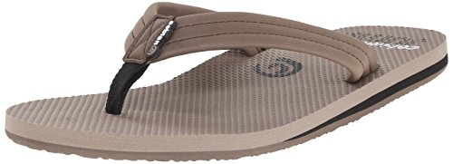 cobian Men's Aqua Jump Flip Flop, Clay, 8 UK/8 M US