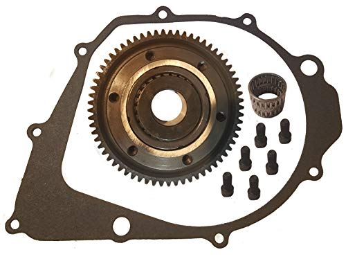 (New Starter Clutch And Gasket For Yamaha Warrior 350 1987-2004 YFM 350 FREE FEDEX 2 DAY)