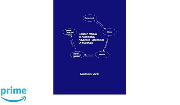 Solution manual to accompany advanced mechanics of materials solution manual to accompany advanced mechanics of materials madhukar vable 9780991244652 amazon books fandeluxe Choice Image